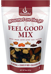 Feel Good Mix <p><strong>From the Manufacturer:</strong></p><p>Why not feel good about your snacks? Our carefully selected Feel Good Mix of quality nuts, dried fruits and granola will have you feeling good both while you are eating and long afterwards. Made with only premium, all natural ingredients, this is the true way to indulge in smart snacking.</p> 8 oz Bag  $7.49