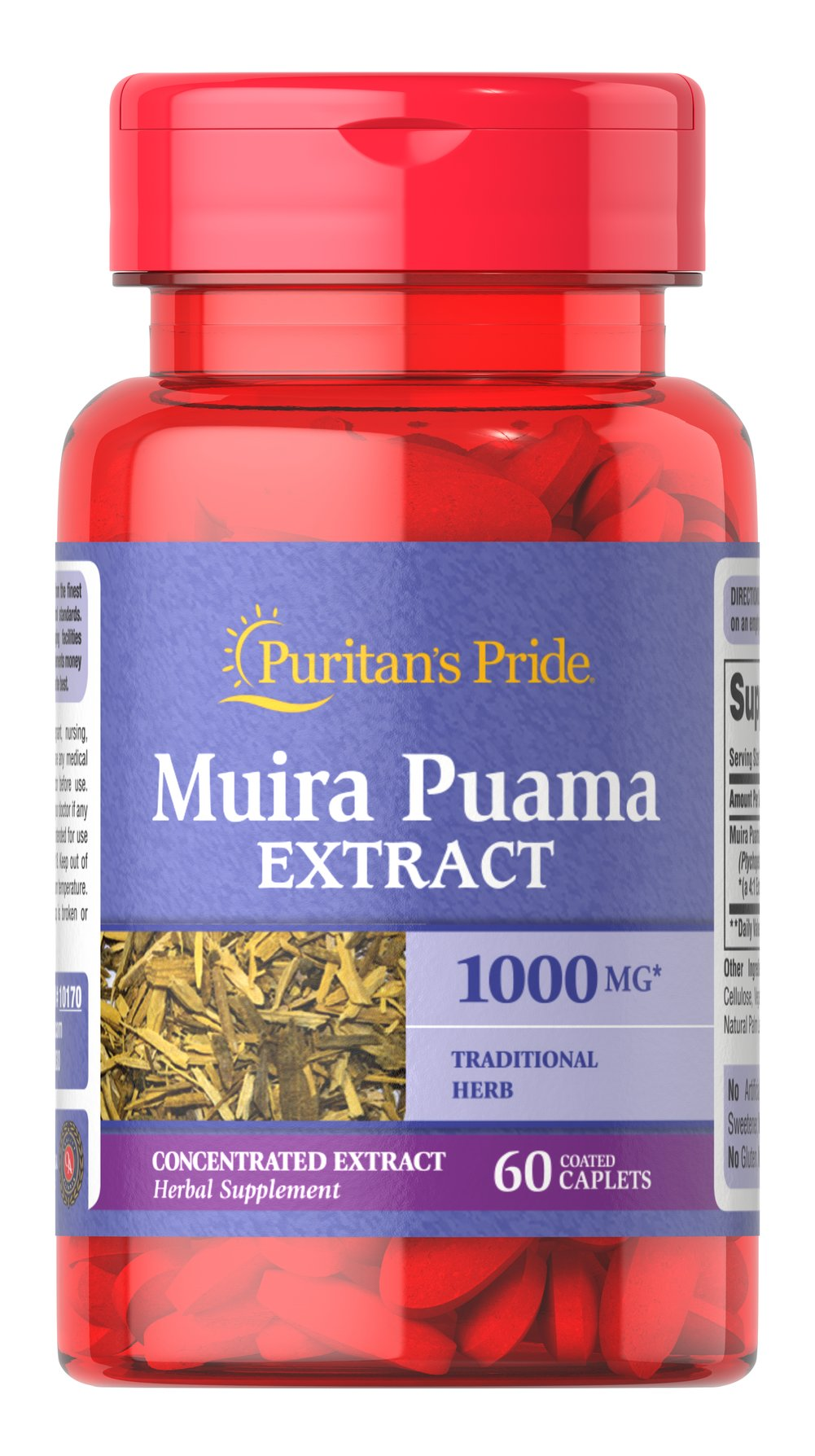 Muira Puama 1000 mg <p>Goodness from the Rain Forest</p><p>This exceptional herb has been used in South America. It is primarily known as an herb for men.<br /></p> 60 Tablets 1000 mg $12.99