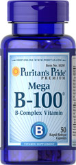 Vitamin B-100 Complex <p>The Vitamin B-100 Complex is made up of several vitamins that work well together to support nervous system health.** B Complex vitamins also promote energy metabolism.** Each nutrient in the B Complex performs a unique role in maintaining proper metabolic functioning and is essential for well being.**</p>  <p>This product delivers B-1, B-2, Niacin, B-6, Inositol, PABA, Pantothenic Acid and Choline, as well B-12, Biotin and Folic Acid.</p> 50 Capsu