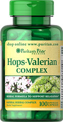 Hops Valerian Combo <p>Combines the benefits of Valerian, Hops and Scullcap in one easy to take convenient capsule.</p> 100 Capsules  $11.99