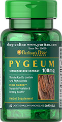 Pygeum GPH® 100 mg <p>Guaranteed Potency Herb. Standardized to contain 12%-13% Phytosterols.  Pygeum, an evergreen plant which can be found growing in tropical Africa, helps support prostate health.**</p> 50 Softgels 100 mg $6.99