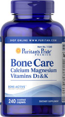 Bone Care <p>Our high quality Bone Care formula contains several ingredients that are important to bone health, including:</p> <p>1,200 mg of Calcium, enough to provide 120% of your daily value.**</p> <p>Vitamin D, a nutrient important for the maintenance of Calcium blood levels</p> <p>Vitamin K and Magnesium</p> 240 Tablets  $24.99