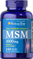 MSM 1000 mg <p><strong>Methylsulfonylmethane (MSM)</strong> is a natural source of sulfur, one of the major building blocks of glycosaminoglycans.** Glycosaminoglycans are key structural components in cartilage and play an important role in the maintenance of joint cartilage. ** </p> 240 Capsules 1000 mg $21.59