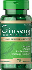 Ginseng Complex <p>Promotes physical performance and immune function.**</p><p>Complex includes Royal Jelly concentrate, Vitamin B-12, as well as Panax, American and Chinese Red Ginseng extracts.</p><p>Ginseng contains naturally occurring ginsenosides, which play a role in well-being.**</p><p>This Ginseng Complex includes Royal Jelly concentrate, Vitamin B-12, as well as Panax, American and Chinese Red Ginseng extracts. The combination in this herbal supp