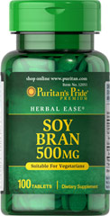 Soy Bran 500 mg <p>One Soy Bran Tablet gives you six times the fiber content of one wheat bran tablet!  Soybeans are one of the richest sources of fiber.  We have concentrated this natural source into a (500 mg) tablet which offers six times the fiber content of a (500 mg) wheat bran tablet.</p> 100 Tablets 500 mg $6.29