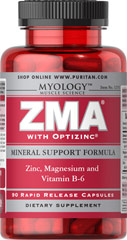 ZMA® <p>ZMA® is a unique formula of Zinc, Magnesium, and Vitamin B-6 combined to provide dietary supplementation. Zinc is essential for cell growth and plays a role in immune function. Magnesium helps to maintain proper bone mineralization and Vitamin B-6 plays a role in protein and energy metabolism.** ZMA® represents cutting-edge nutrition at a down-to-earth price.</p>  90 Capsules  $22.99