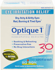 Optique <p><strong>From the Manufacturer:</strong><br /><br />Temporarily relieves minor eye irritation due to fatigue or airborne irritants such as ragweed, other pollens or dust. Temporarily soothes red, dry, itchy, gritty, burning or tired eyes<br /></p><ul><li>30 Sterile Single Use Doses<br /></li><li>Preservative Free<br /></li><li>No Drug Interactions<br /><br />Manufactured by Boiron</
