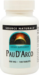 Pau D'Arco 500 mg  100 Tablets 500 mg
