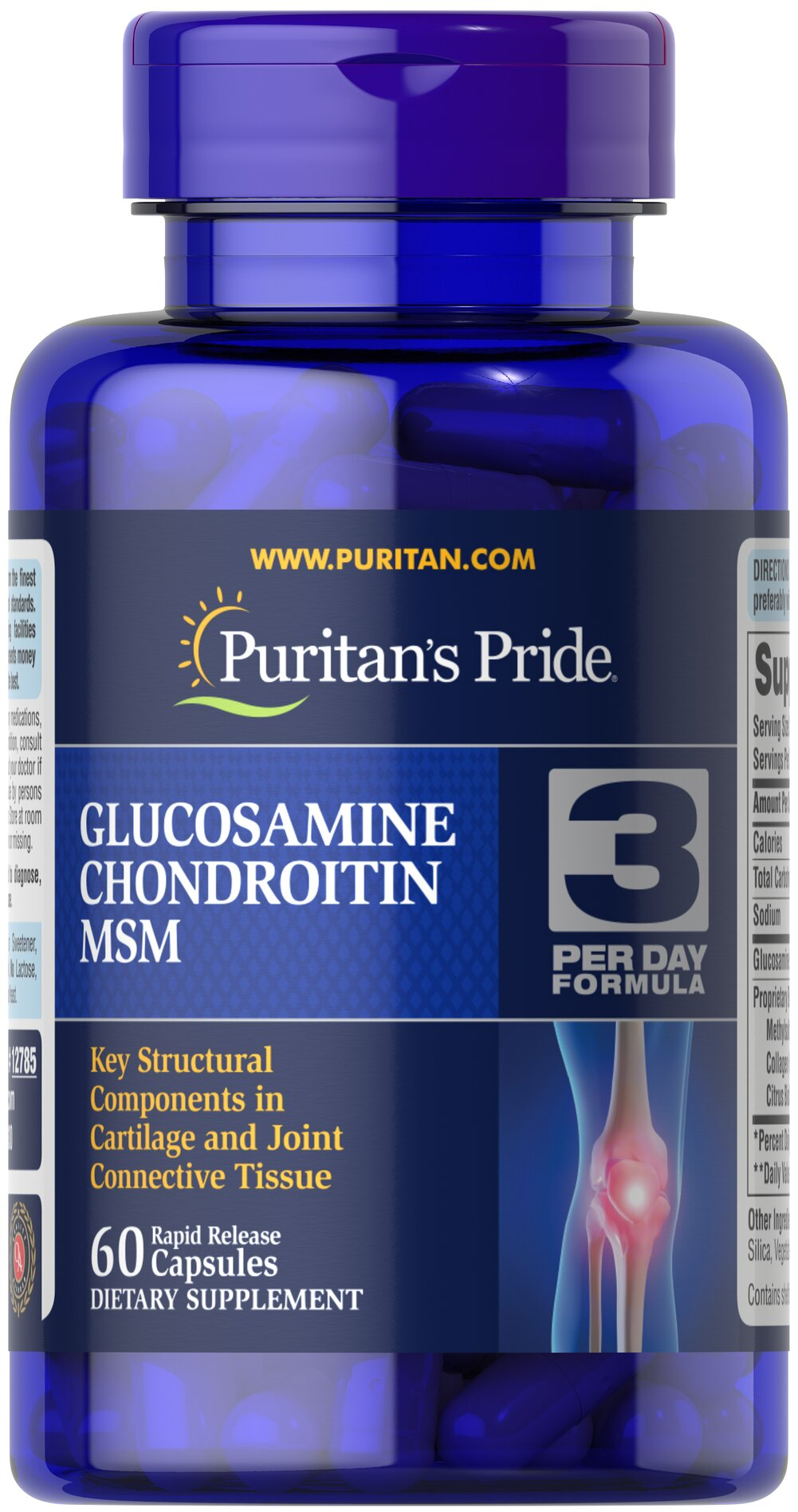 Double Strength Glucosamine, Chondroitin & MSM Joint Soother® <p>Combines the top three structural components found in popular joint support products — Glucosamine, Chondroitin and MSM — with amino and herbal support from Collagen and Boswellia Serrata**</p><p>This high-quality formula delivers 1,500 mg of Glucosamine HCI to help  support cartilage, lubricate the joints, and helps with occasional joint stress due to exercise or physical activity**</p> 60 Capsules