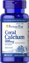Coral Calcium 500 mg <p>Coral Calcium promotes bone strength and supports heart, nerve and muscle functions.** Our Coral Calcium is mined, not collected, from an above ground source making it environmentally friendly. 500 mg bioavailable calcium per serving with 72 trace minerals. Adults can take two or more capsules daily, depending on their Calcium needs.</p> 60 Capsules 500 mg $9.99