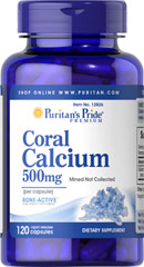 Coral Calcium 500 mg <p>Coral Calcium promotes bone strength and supports heart, nerve and muscle functions.** Our Coral Calcium is mined, not collected, from an above ground source making it environmentally friendly. 500 mg bioavailable calcium per serving with 72 trace minerals. Adults can take two or more capsules daily, depending on their Calcium needs.</p> 120 Capsules 500 mg $17.99