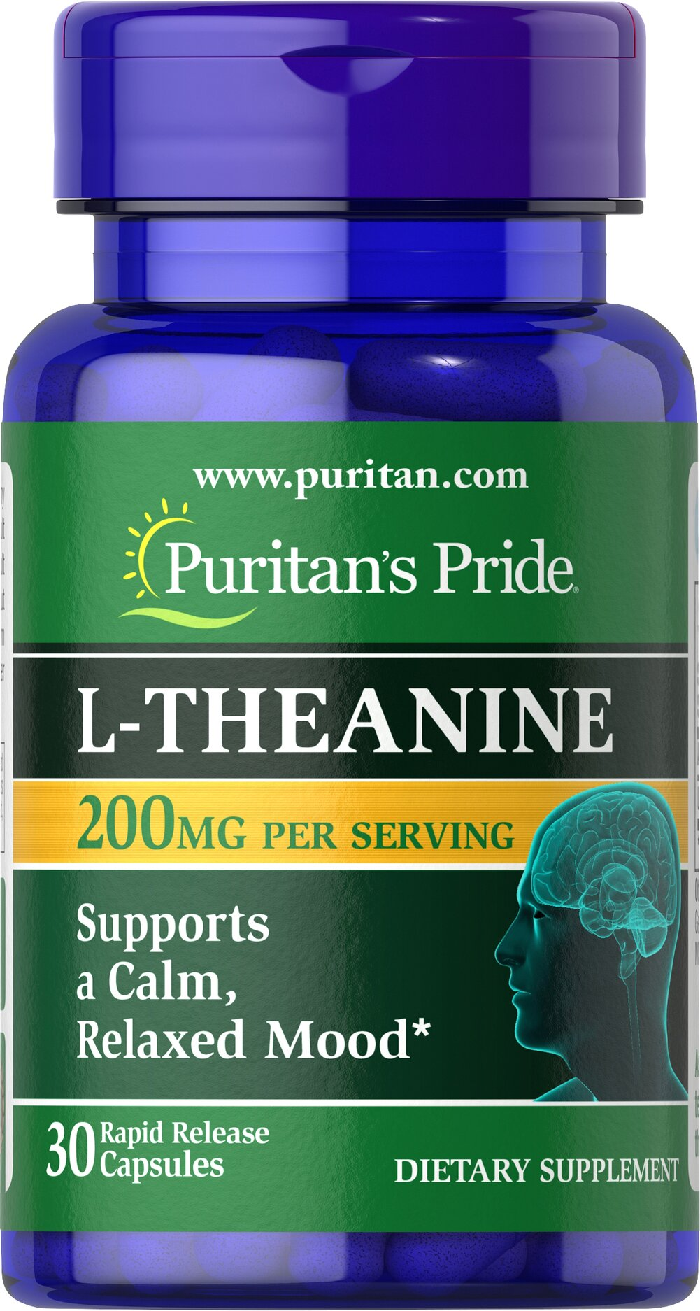 L-Theanine 200 mg <p>A close relative of Glutamate, studies indicate that L-Theanine interacts with the neurotransmitter, GABA (gammaminobutyrate).** GABA, known for its importance in nervous system functioning, works with the mood centers of the brain.** Studies in Japan show that L-Theanine helps support the body's ability to deal with PMS and occasional, everyday anxiety.**</p> 30 Capsules 200 mg $10.29