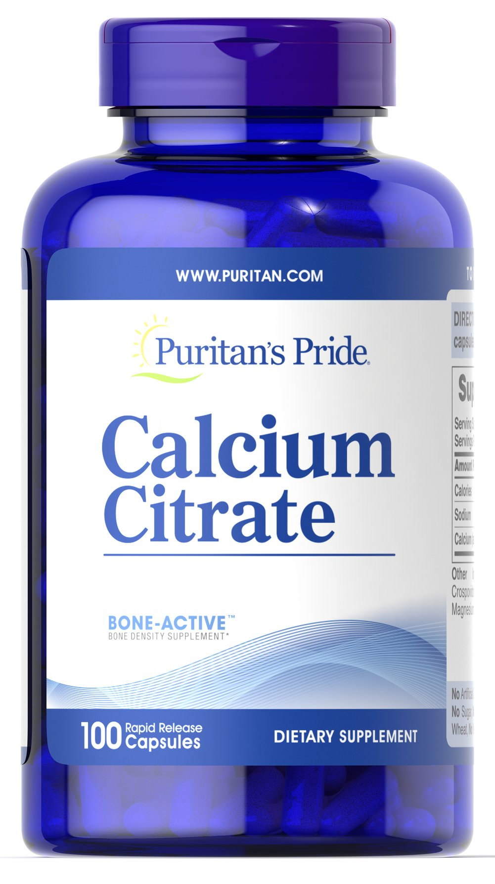 Calcium Citrate <p>Calcium is a major mineral essential for proper nutrition.** Your body could not survive without it. Calcium promotes bone strength, but also helps to maintain the health of other vital systems in the body, including the heart, muscles and nerves.** Some scientific studies indicate that Calcium Citrate may support the health of the colon.**</p> 100 Capsules 250 mg $15.39