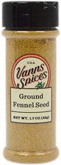 "Ground Fennel Seed <table border=""0"" cellpadding=""0"" cellspacing=""0"" height=""72"" width=""576""><colgroup><col width=""343"" /></colgroup><tbody><tr height=""36""><td class=""xl2353"" height=""36"" style=""height:27.0pt;width:257pt;"" width=""343""><p><strong>From  the Manufacturer's Label:</strong></p><p>Fennel seed's comp"