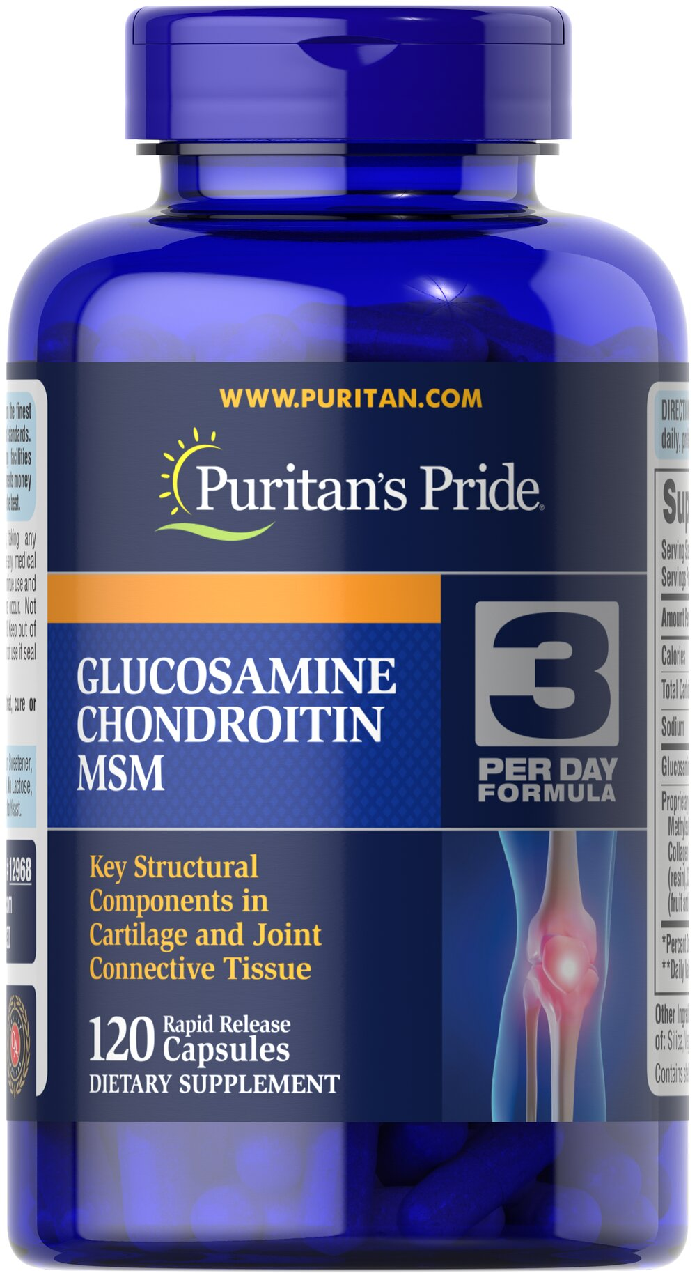 Double Strength Glucosamine, Chondroitin & MSM Joint Soother® <p>Combines the top three structural components found in popular joint support products — Glucosamine, Chondroitin and MSM — with amino and herbal support from Collagen and Boswellia Serrata**</p><p>This high-quality formula delivers 1,500 mg of Glucosamine HCI to help  support cartilage, lubricate the joints, and helps with occasional joint stress due to exercise or physical activity**</p> 120 Capsule