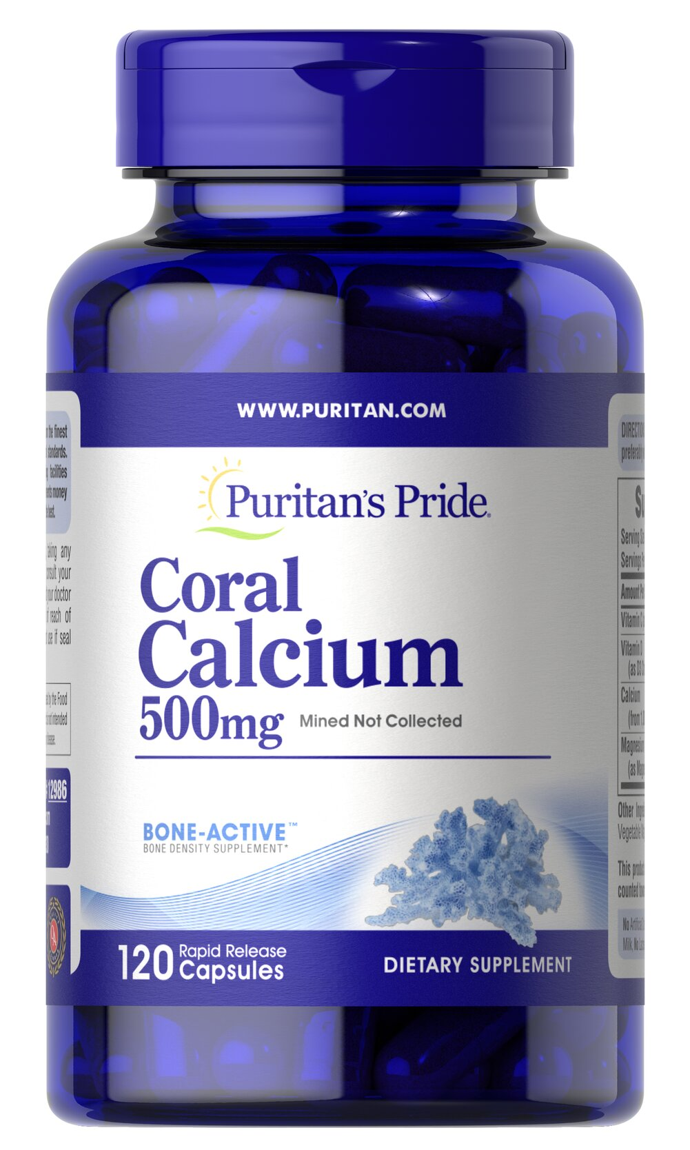 Coral Calcium Complex <p>Today's modern farming and food processing methods can often deplete valuable minerals from our diet. Our Coral Calcium formulation includes Coral Calcium, Magnesium and Vitamin C for bone health, plus Vitamin D to aid in Calcium absorption.** The Coral Calcium in this product is mined, not collected, from an above ground source making it environmentally friendly.</p> 120 Capsules  $15.99