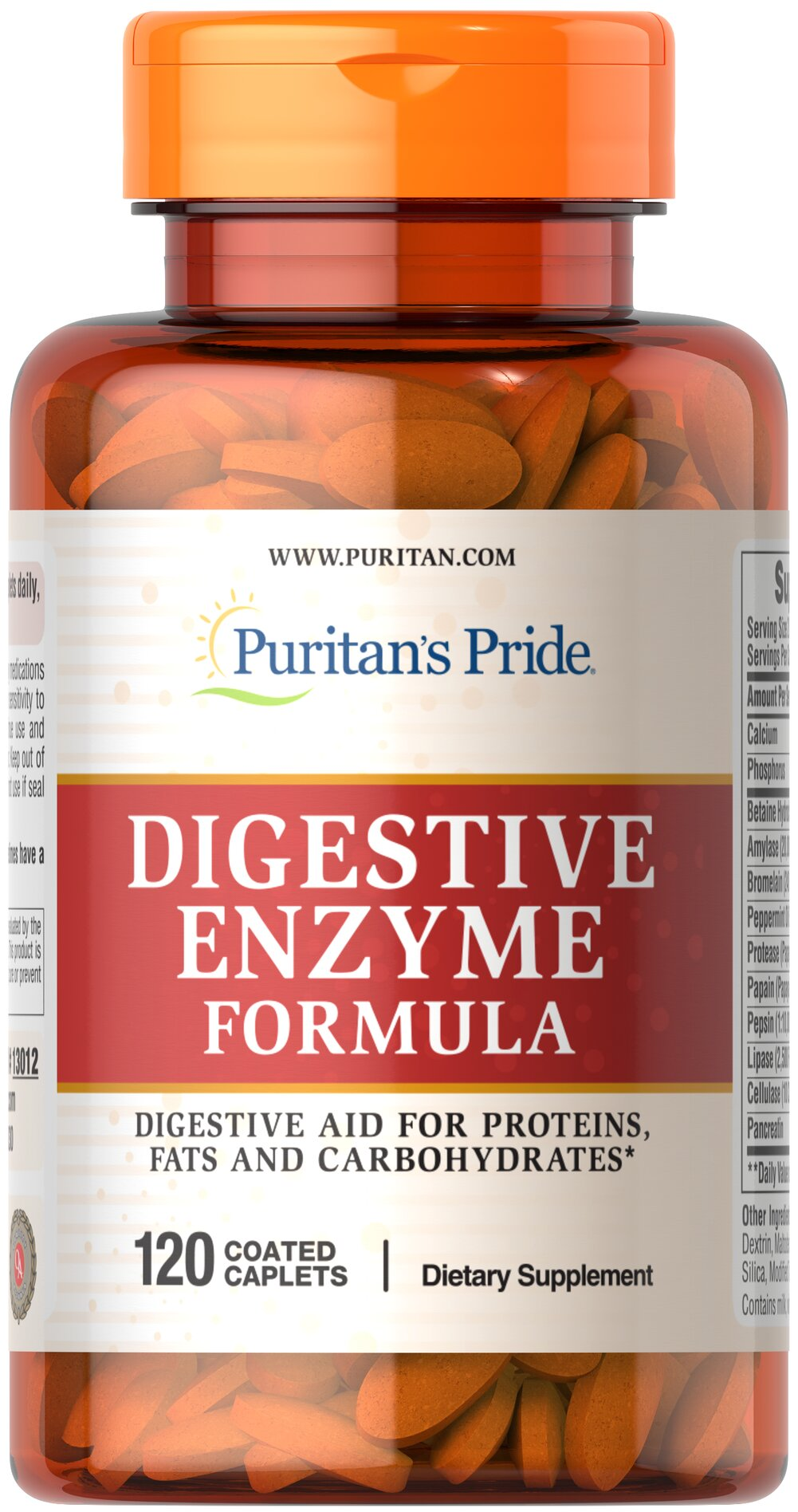 Super Strength Multi Enzyme <p>Enzymes break down the nutritional components of proteins, fats and carbohydrates, making these nutrients available for the body's energy needs, cell growth and other vital functions.** This holistically balanced blend is an enzyme formula that can be used to support proper digestion.**</p><p>Adults can take two (2) caplets, preferably with a meal.</p> 120 Caplets  $28.79