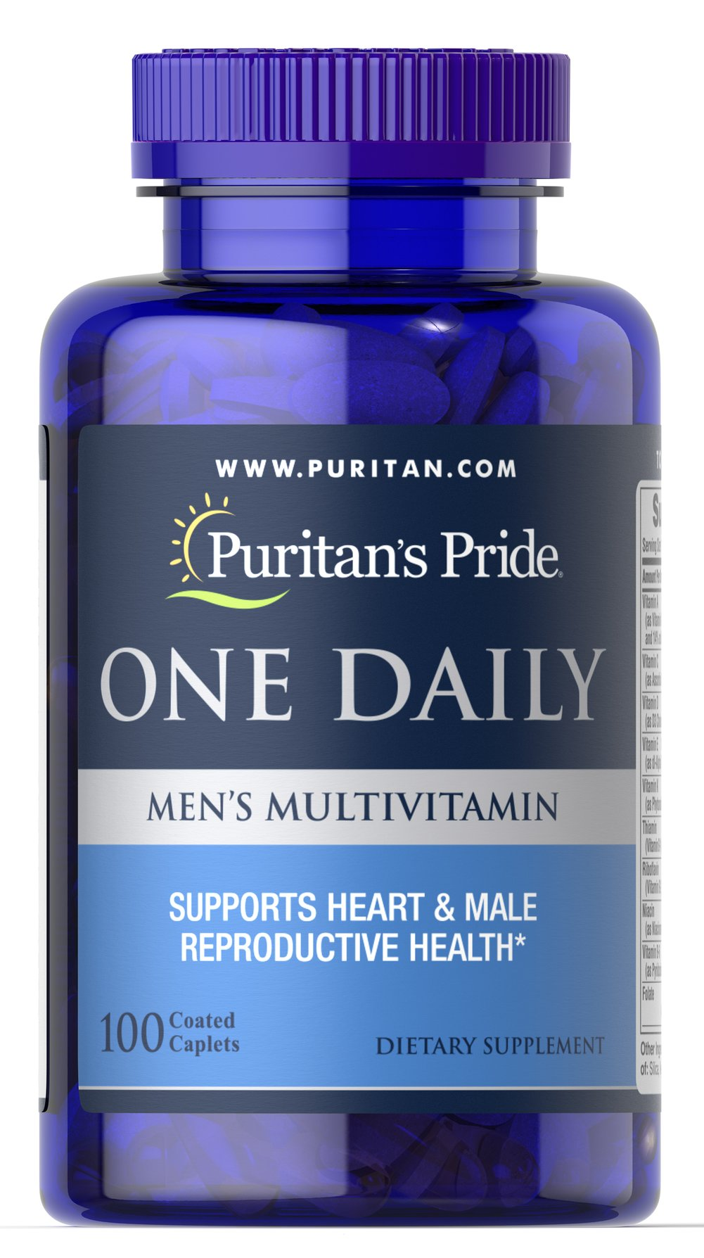 One Daily Men's Multivitamin <p>A Convenient multivitamins for the Man on the Go! Compare and Save!</p><p>Once-daily formula provides an array of vitamins and minerals</p><p>Includes 700 IU of Vitamin D to support bone and immune system health, and 100% of the Daily Value of Zinc to aid with energy metabolism and male reproductive health**</p><p>Provides 300 mcg of Lycopene, a major carotenoid found in healthy prostate glands</p> 100 Caplets  $