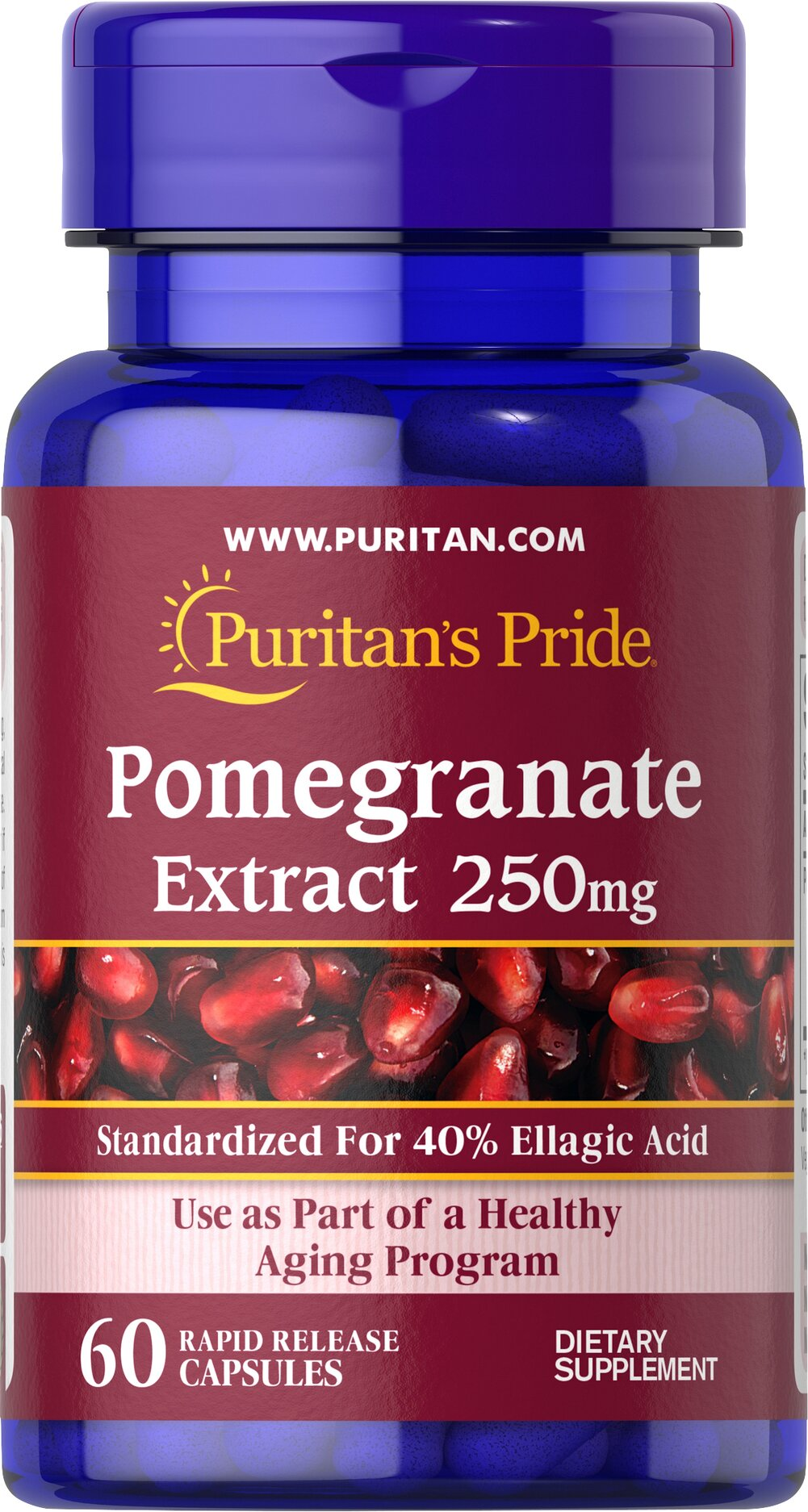 Pomegranate Extract 250 mg  60 Rapid Release Capsules 250 mg $13.99