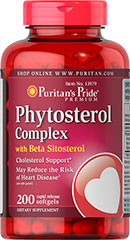 Phytosterol Complex 1000 mg (Per Serving) <p>Promotes cardiovascular and circulatory wellness**</p><p>May Reduce the Risk of Heart Disease◊</p><p>◊Diets low in saturated fat and cholesterol that include 2 g per day of plant sterols eaten with meals or snacks may reduce the risk of heart disease. A serving of Phytosterol Complex supplies 0.5 g of plant sterols.</p> 200 Softgels 1000 mg $35.99