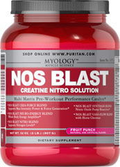 NOS Blast Fruit Punch <p>All the benefits of the most popular bodybuilding supplements are now available in one easy-to-take product. It's never been so effortless to enhance the quality of your workouts.**</p><p>NOS BLAST Professional Formula combines the valuable effects of Creatine, NOS Inducers, Branched-Chain Amino Acids, workout-stimulating Caffeine and more.**</p><p>Arginine can help promote nitric oxide synthesis, which is important for nutrient circulation.