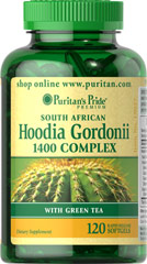 Hoodia Gordonii 1400 Complex with Green Tea <p>Use when cutting calories</p><p>Popular dieting ingredient in convenient softgel form</p><p>Free of chemicals and alcohol</p><p>South African Hoodia Gordonii 1400 Complex contains a powerful blend of popular dieting ingredients that is perfect to use when you're cutting calories. Extracts of Cocoa, Guarana and Green Tea naturally help boost energy levels, which can be important when reducing calories.**</