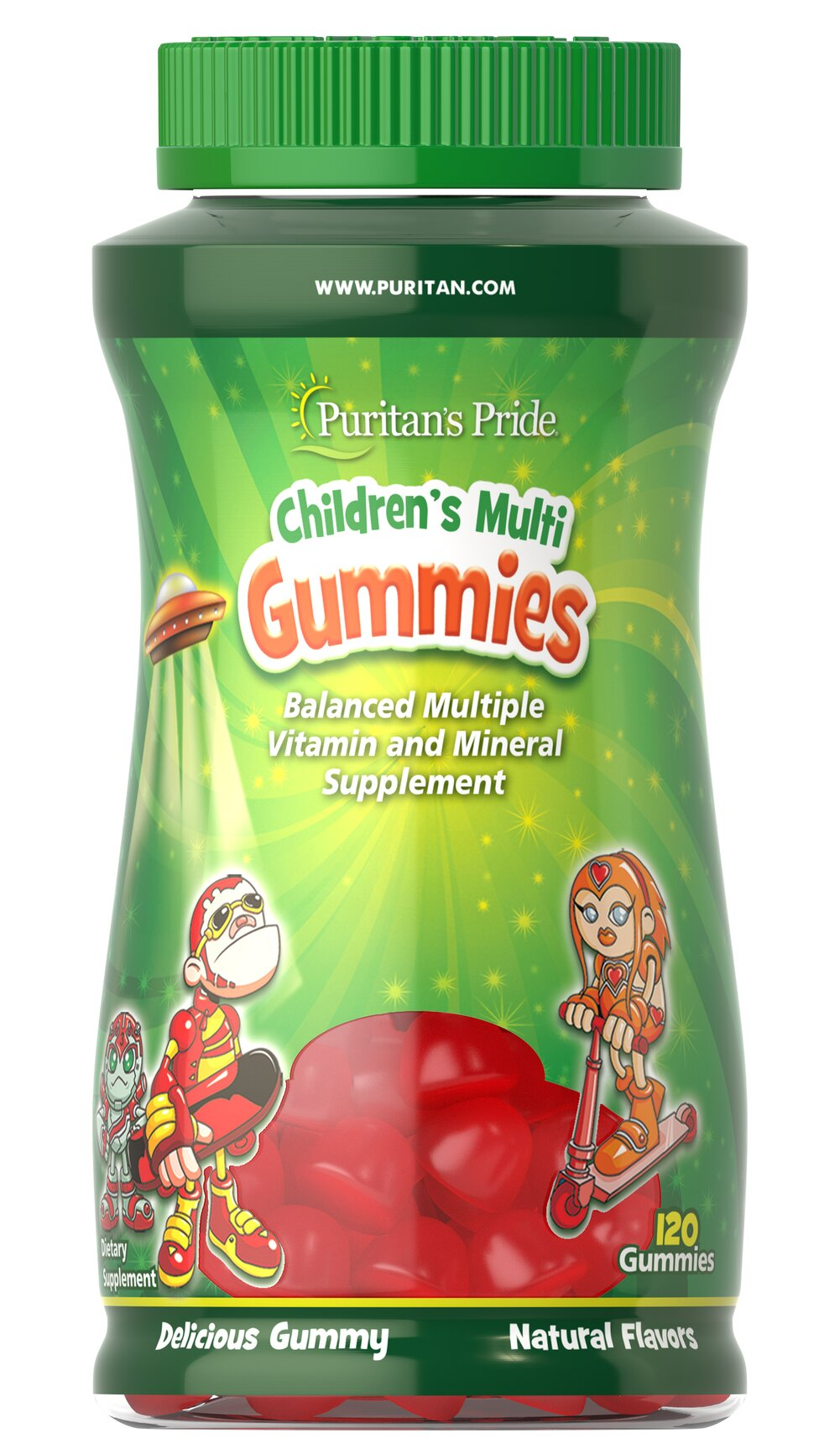 Children's Multivitamins & Mineral Gummies <p>These multivitamins gummies are packed with essential vitamins and minerals necessary for your child's healthy growth and development.** Included are Vitamin D for the bones, and Vitamins C and E for the immune system.**</p> 120 Gummies  $19.99