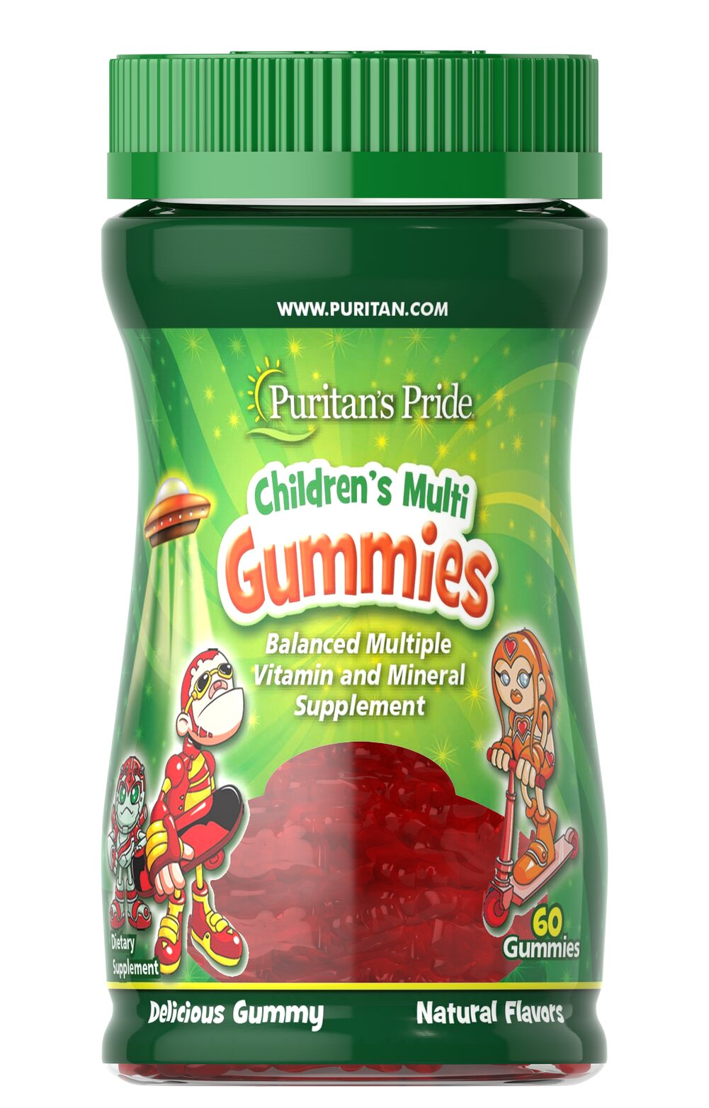 Children's Multivitamins & Minerals Gummies <p>These multivitamins gummies are packed with essential vitamins and minerals necessary for your child's healthy growth and development.** Included are Vitamin D for the bones, and Vitamins C and E for the immune system.**</p> 60 Gummies  $9.99