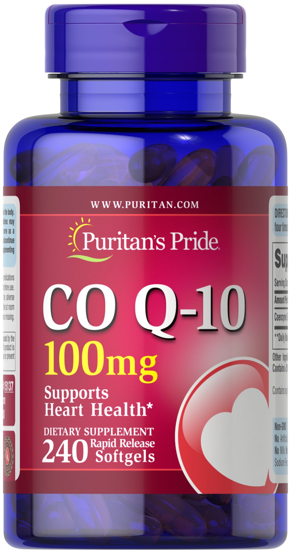 Q-SORB™ Co Q-10 100 mg  240 Rapid Release Softgels 100 mg $56.99