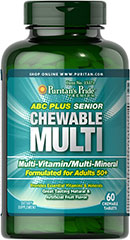 ABC Plus Sr. Chewable Multi  60 Tablets  $13.49