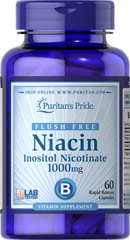 Flush Free Niacin Inositol Nicotinate 1000 mg <p>Supports heart and cardiovascular wellness**</p><p>Promotes healthy circulation**</p><p>Contributes to energy metabolism**</p><p>Helps metabolize carbohydrates and protein**</p><p>Laboratory Tested</p> 60 Capsules 1000 mg $17.99