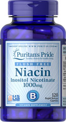 Flush Free Niacin Inositol Nicotinate 1000 mg <p>Supports heart and cardiovascular wellness**</p><p>Promotes healthy circulation**</p><p>Contributes to energy metabolism**</p><p>Helps metabolize carbohydrates and protein**</p><p>Laboratory Tested</p> 120 Capsules 1000 mg $32.99