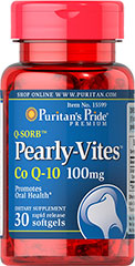Pearly-Vites™ Co Q-10 100mg  30 Softgels 100 mg $13.99