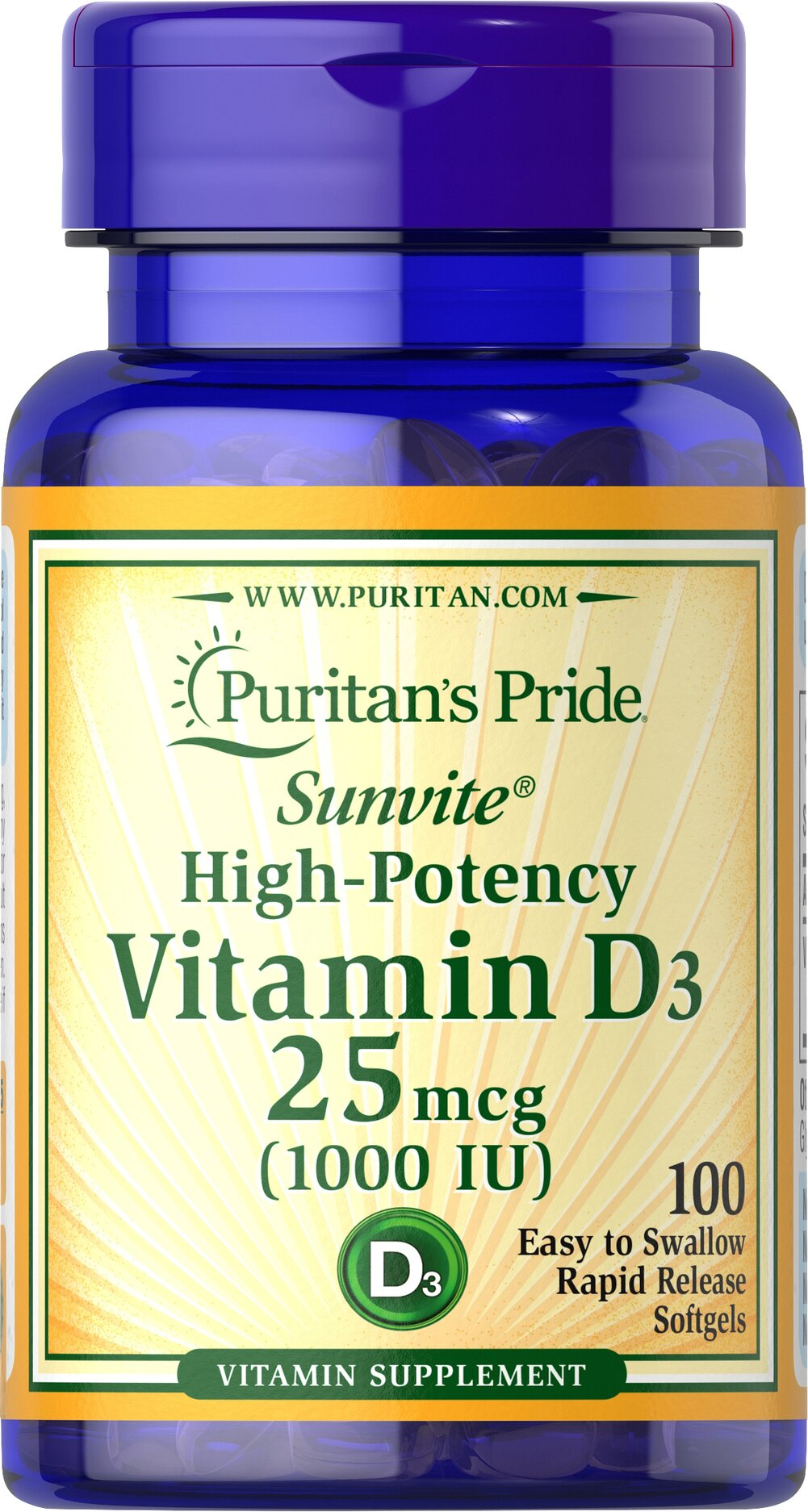 Vitamin D3 1000 IU  100 Softgels 1000 IU $4.79