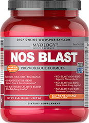 NOS Blast Orange <p>All the benefits of the most popular bodybuilding supplements are now available in one easy-to-take product. It's never been so effortless to enhance the quality of your workouts.**</p><p>NOS BLAST Professional Formula combines the valuable effects of Creatine, NOS Inducers, Branched-Chain Amino Acids, workout-stimulating Caffeine and more.**</p><p>Arginine can help promote nitric oxide synthesis, which is important for nutrient circulation.** Th