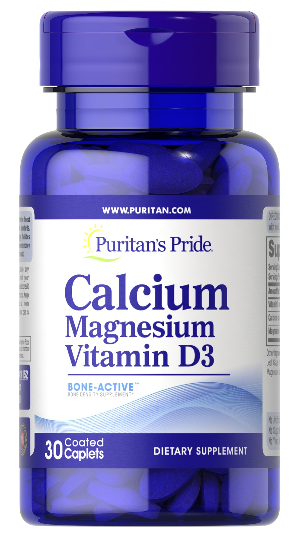 "Calcium Magnesium with Vitamin D <p>Give your bones a sample of one of the best combinations in <a href=""/bone-health-241?searchterm=bone%20health&rdcnt=1"">bone health</a> .*</p> <p><span></span> Calcium, Magnesium, and Vitamin D are essential for strong bones, plus this formula helps support a healthy immune system, colon health, and more.* </p> 30 Caplets  $1.39"