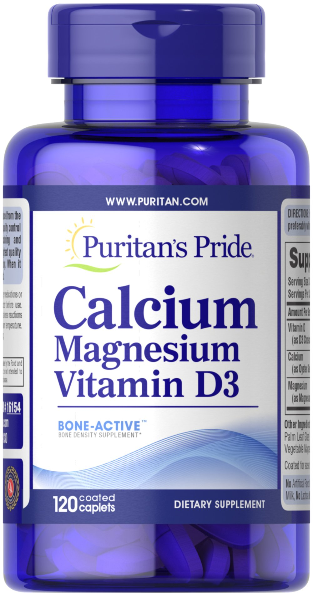 Calcium Magnesium with Vitamin D  120 Caplets 1000 mg/500 mg/400 IU $12.99
