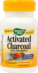 Activated Charcoal  100 Capsules 560 mg $6.99