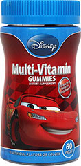 Disney Cars Multi Gummies <p>For healthy growth and development**</p><p>With pediatrician recommended¹ level of Vitamin D 400 IU per 2 gummies</p><p>Children's Multiple Vitamin & Mineral Supplement </p><p>Tastes great, no artificial flavors or colors!</p><p>¹the American Academy of Pediatrics recommends children and asolscents receive at least 400 IU of Vitamin D per day from food or supplements.  Wagner, C et al. Pediat