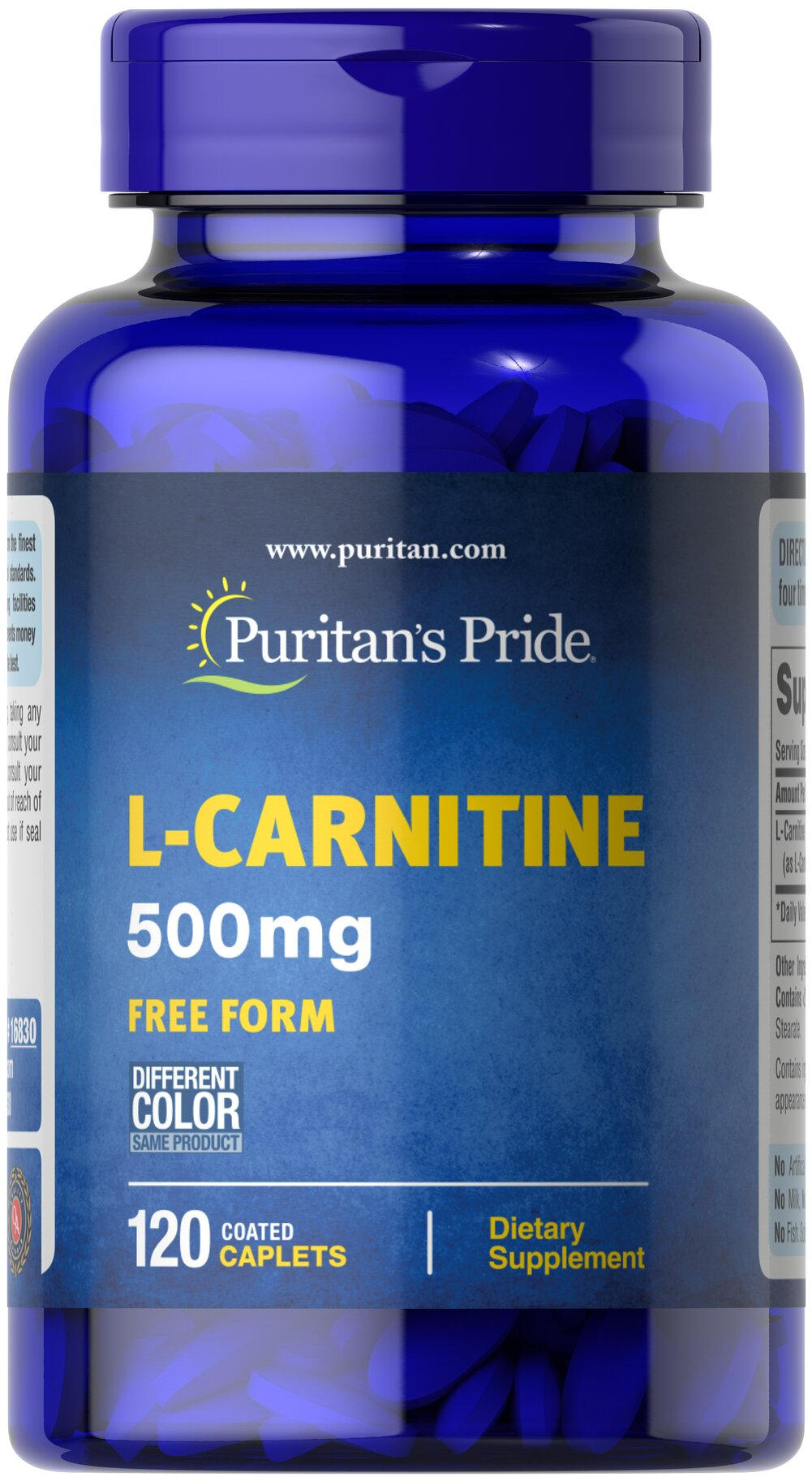 L-Carnitine 500 mg  120 Caplets 500 mg $25.49