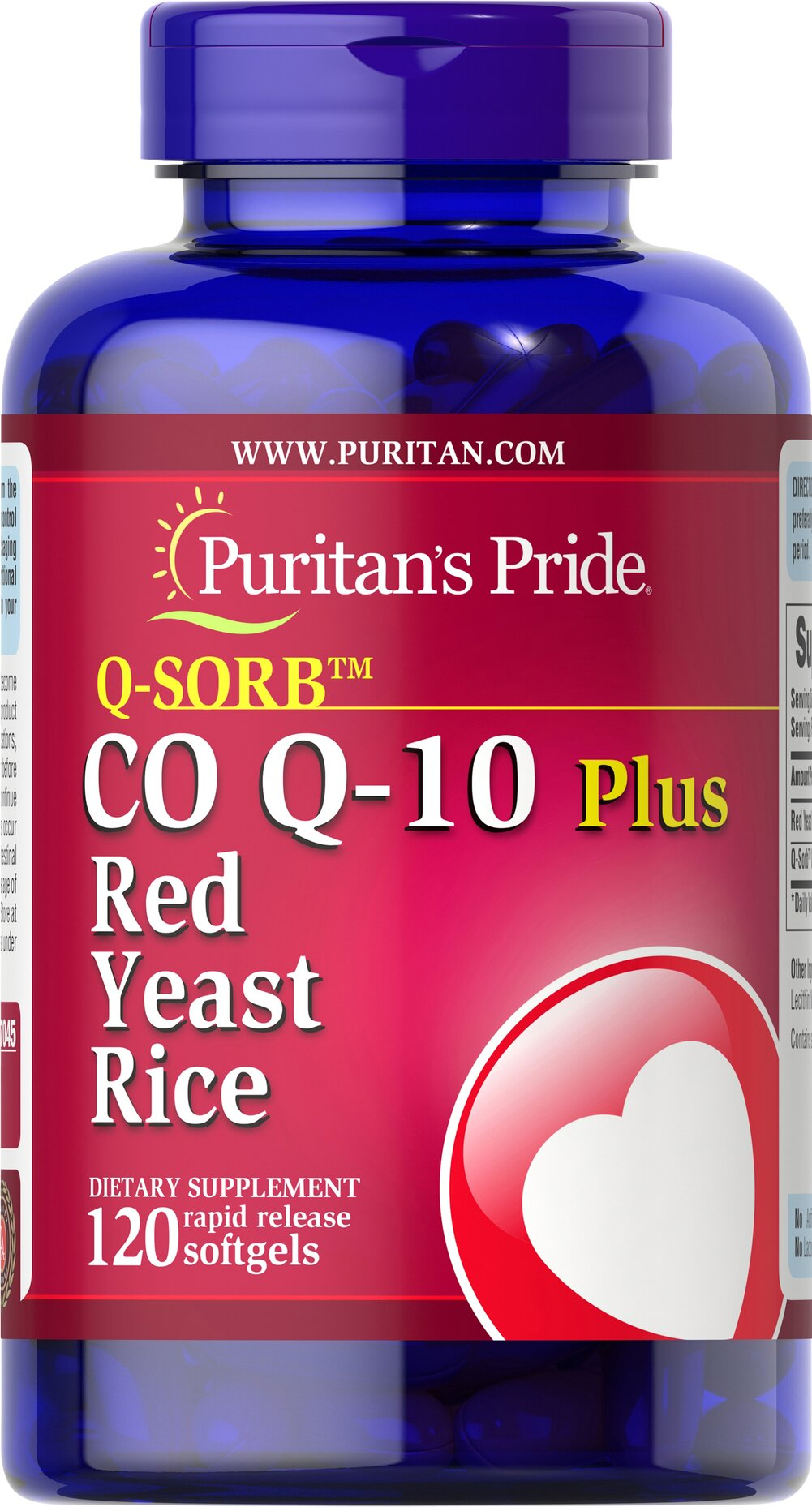 Q-SORB™ Co Q-10 60 mg plus Red Yeast Rice 600 mg <p>A powerful antioxidant combined with an ingredient whose traditional goodness has been valued for centuries can only mean one thing… <strong>Co Q-10 Plus Red Yeast Rice.</strong></p><p>Red Yeast Rice has been a part of the traditional Chinese diet for centuries, and Coenzyme Q-10 promotes energy production and is an important contributor to antioxidant and heart health.** Only one softgel a day brings you these man