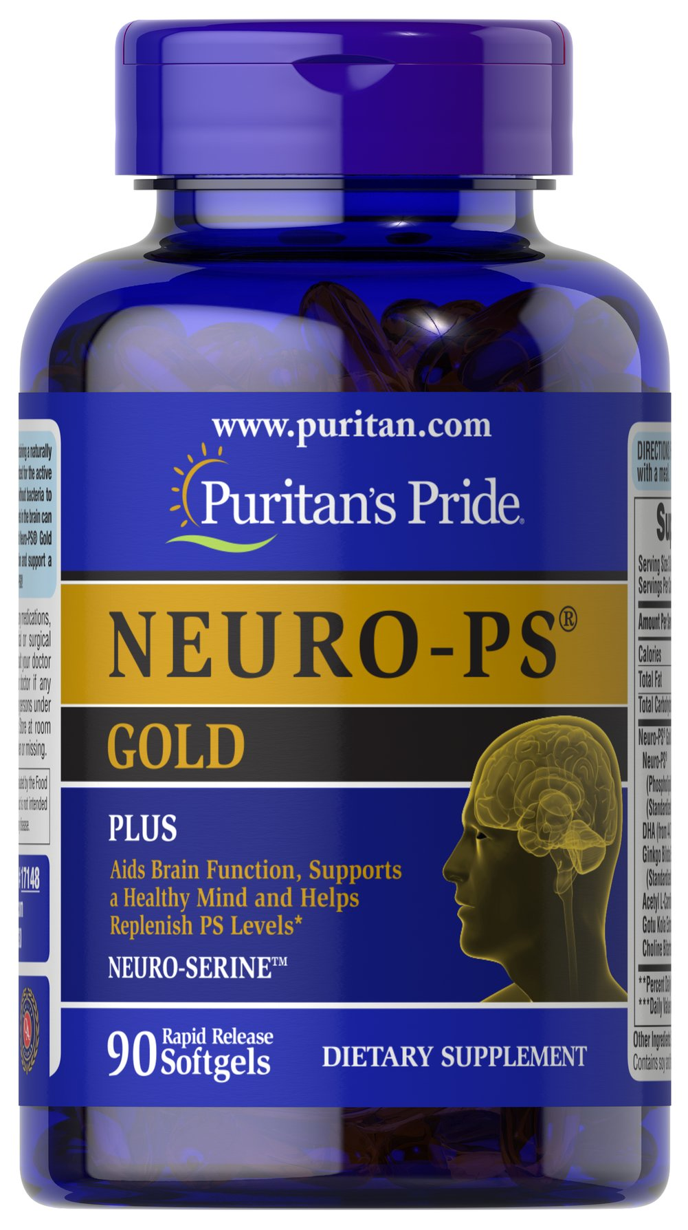 NEURO-PS® GOLD™ <p>Phosphatidylserine (PS), is a natural substance found in brain cell  membranes.** Phosphatidylserine levels in the brain can decline with age, so it  is important to supplement with Neuro-PS® every day to aid brain function and  support a healthy mind.** Very limited and preliminary scientific research  suggests that PS may reduce the risk of cognitive dysfunction in the elderly.  FDA concludes that there is little scientific evidence supporting this  claim.&lt