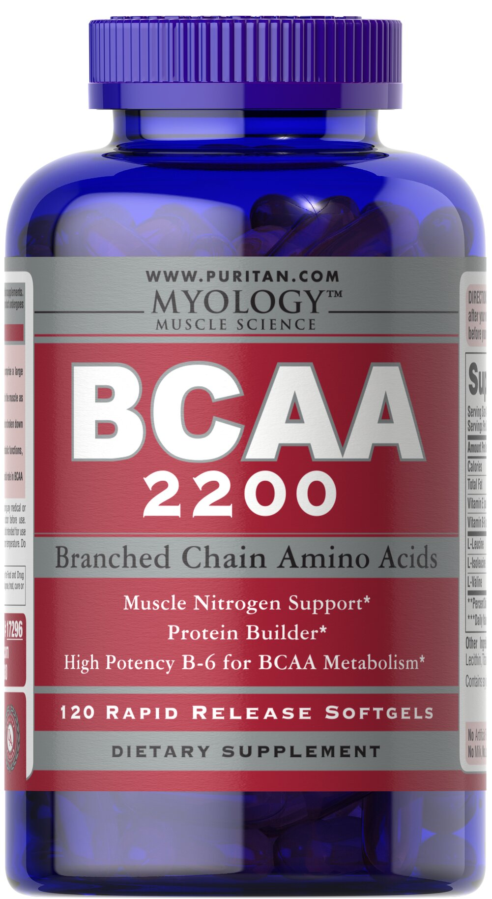 BCAA 2200 <p>BCAAs are especially important for bodybuilders since they comprise a large percentage of the amino acid composition of muscle.**</p>  <p>BCAAs are also the only aminos that are directly metabolized in the muscle as opposed to the liver.</p>  <p>Provides dual benefits since BCAAs can be used to build protein or broken down in muscle to supply a direct source of energy.**</p>  <p>BCAAs provide muscle nitrogen support for a variety of metaboli