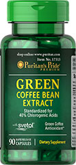 Green Coffee Bean Extract with SVETOL® 400 mg <p>Green Coffee Bean contains antioxidant properties.**</p><p>Each serving contains 400mg of SVETOL® green coffee bean extract and 120mg of Yerba Mate extract</p><p>SVETOL® is the plant extract from fresh green coffee beans that have not been roasted</p><p>Specialized combination of all-natural Svetol® and Yerba Mate</p><p>Green Coffee Bean Extract available in rapid release ca