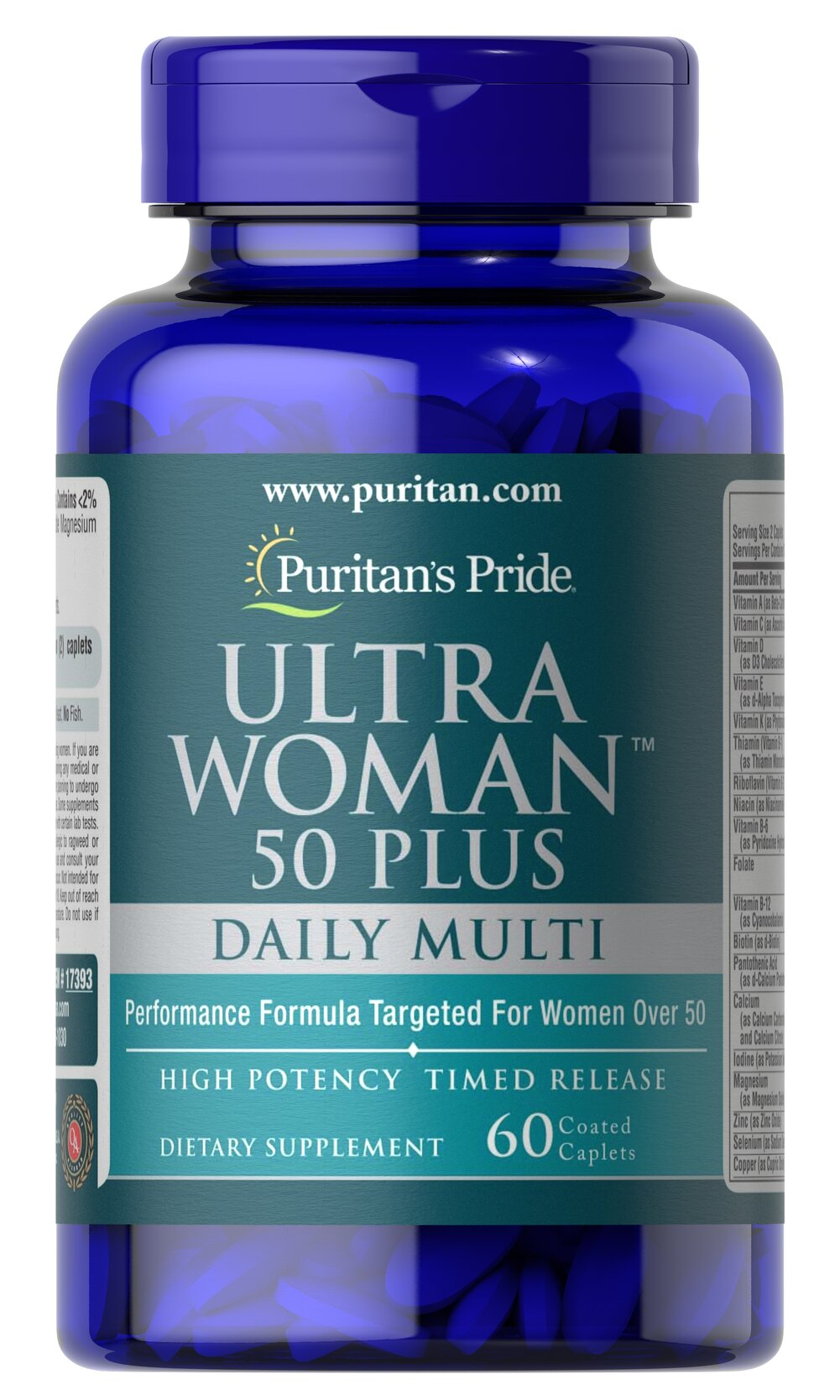 Ultra Woman™ 50 Plus Multi-Vitamin  60 Caplets  $15.99