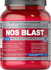 NOS Blast Blue Raspberry <p>All the benefits of the most popular bodybuilding supplements are now available in one easy-to-take product. It's never been so effortless to enhance the quality of your workouts.**</p><p>NOS BLAST Professional Formula combines the valuable effects of Creatine, NOS Inducers, Branched-Chain Amino Acids, workout-stimulating Caffeine and more.**</p><p>Arginine can help promote nitric oxide synthesis, which is important for nutrient circulati