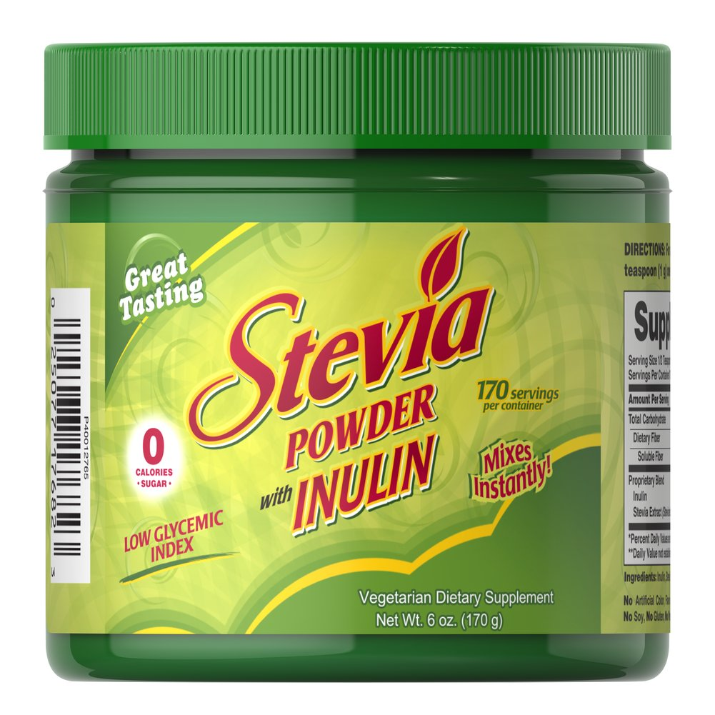 Stevia Powder <p>Stevia naturally contains diterpene glycosides, stevioside and rebaudioside, which contribute to its unique beneficial properties. Our Stevia Extract is vegetarian friendly, contains no sugar or artificial flavors and is an excellent natural addition for all kinds of foods and beverages.</p> 6 oz. Powder  $17.99