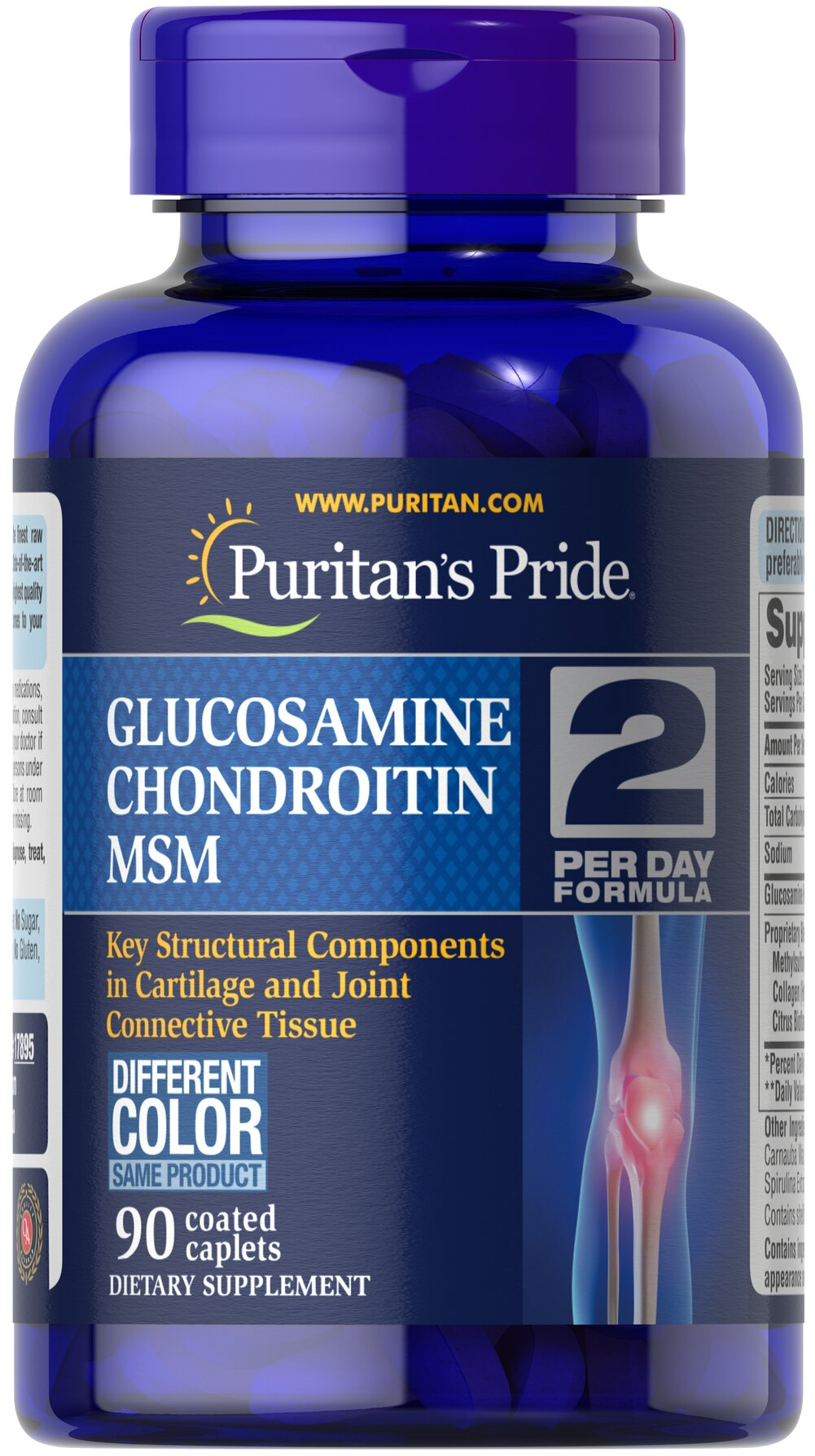 Triple Strength Glucosamine, Chondroitin & MSM Joint Soother® <p></p>Contains Glucosamine, Chondroitin, and MSM, which work synergistically to enhance each other's benefits in the body** Triple Strength Glucosamine, Chondroitin and MSM is the most powerful joint soother yet!** Just two caplets per day will give you triple strength protection with 1500 mg of Glucosamine, and 1200 mg of our joint nourishing proprietary blend.** If you are looking to maintain your joints and ca