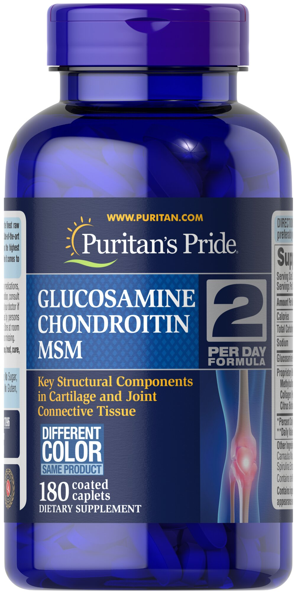 Triple Strength Glucosamine, Chondroitin & MSM Joint Soother® <p>Lubricates joints to improve flexibility**</p><p>Supports connective tissue in and around the joints**</p><p>Triple Strength Glucosamine, Chondroitin and MSM is the most powerful joint soother yet!** Just two caplets per day will give you triple strength protection with 1500 mg of Glucosamine, and 1700 mg of our joint nourishing proprietary blend.**</p> 180 Caplets  $44.78