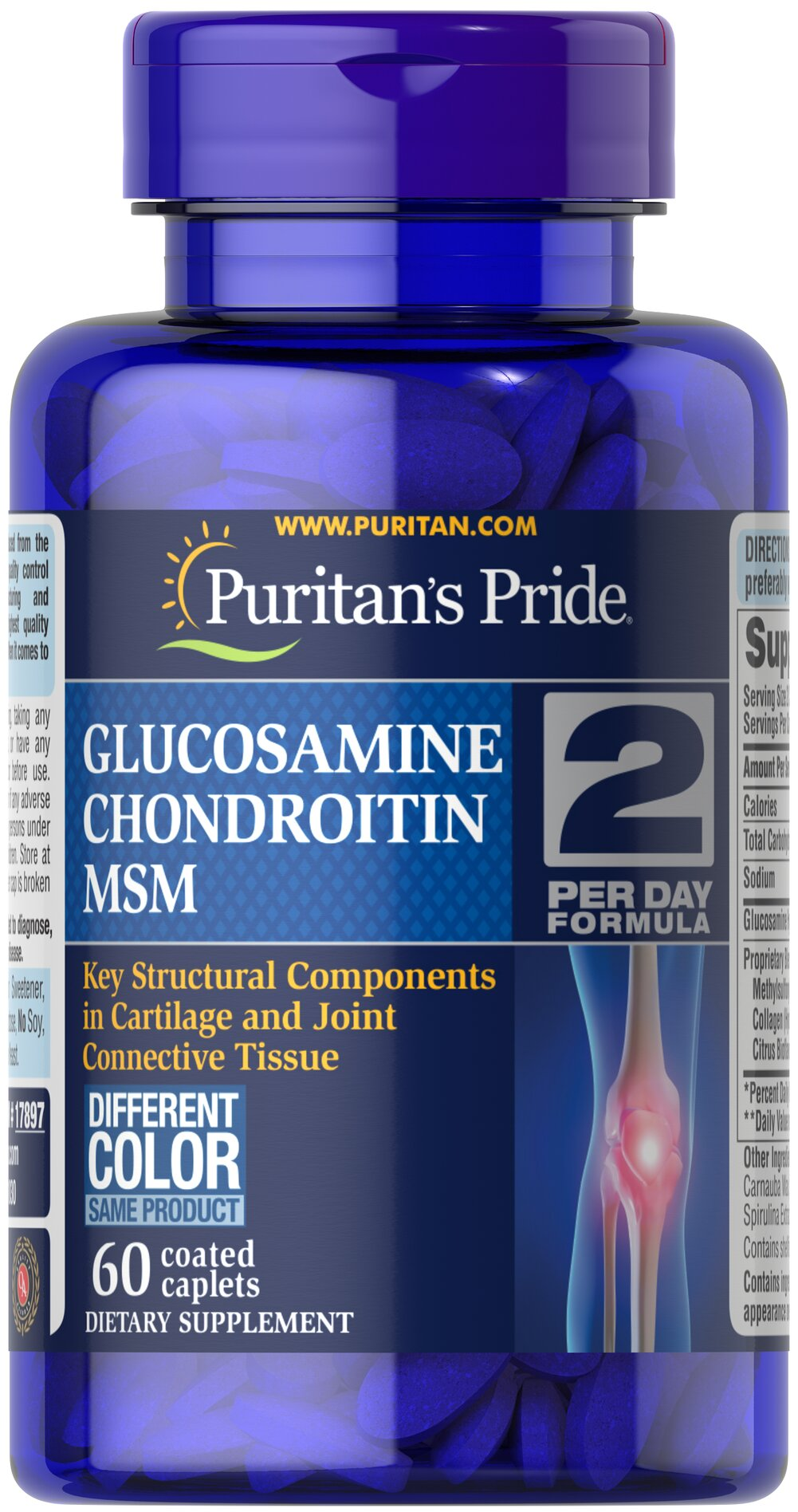 Triple Strength Glucosamine, Chondroitin & MSM Joint Soother® <p>Lubricates joints to improve flexibility**</p><p>Supports connective tissue in and around the joints**</p><p>Encourages joint comfort**</p><p>Triple Strength Glucosamine, Chondroitin and MSM is the most powerful joint soother yet!** Just two caplets per day will give you triple strength protection with 1500 mg of Glucosamine, and 1700 mg of our joint nourishing proprietary blend.**